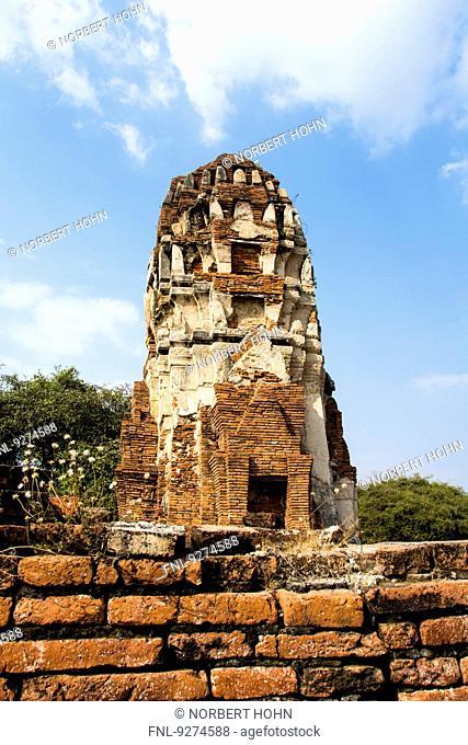 Buddhist Temple complex in Ayutthaya, Thailand