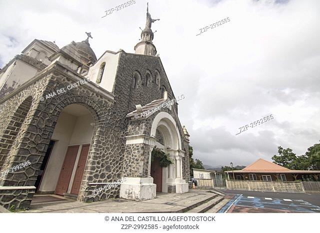 Balata church and garden in Fort-de-France on December 4, 2017 Martinique island French Antilles Caribbean sea
