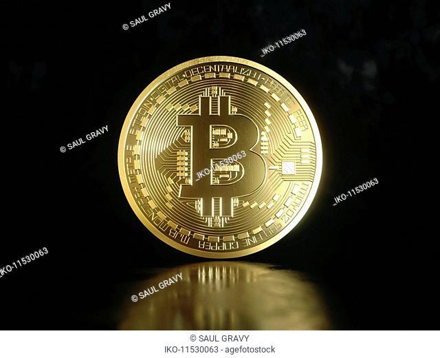 Single shiny new gold bitcoin
