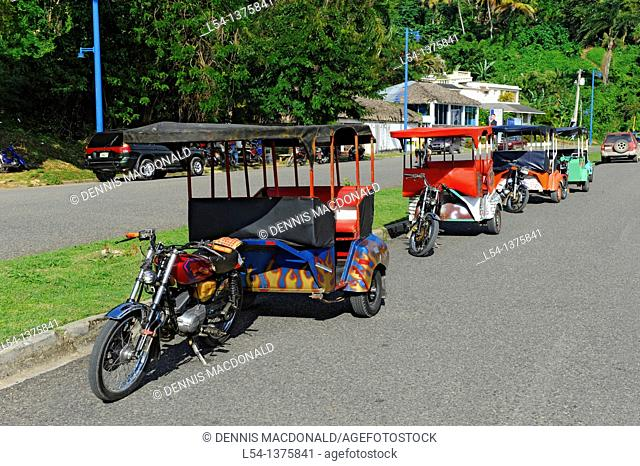 Rickshaws Samana Dominican Republic Hispaniola Southern Caribbean Cruise