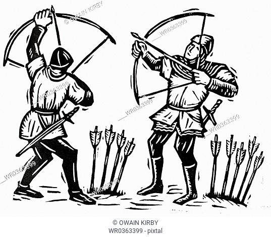 Soldiers In Armor With Bow And Arrow