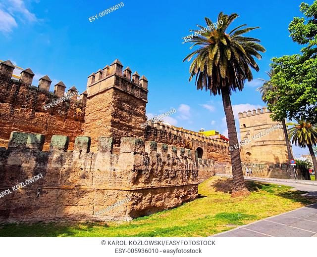 Roman Walls of La Macarena District in Seville, Andalusia, Spain