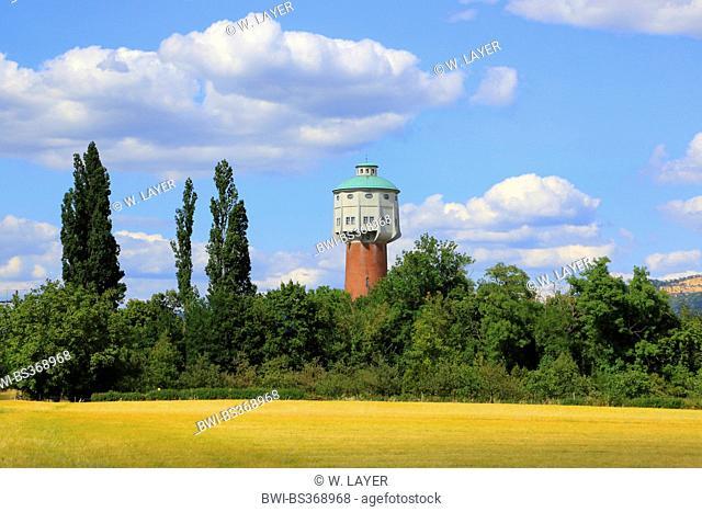 old water tower near Edlingen, Germany, Baden-Wuerttemberg, Edlingen