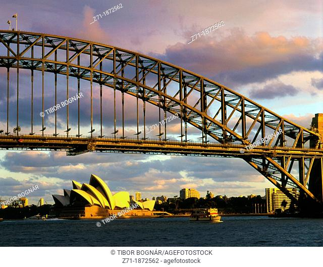 Australia, Sydney, Harbour Bridge, Opera House