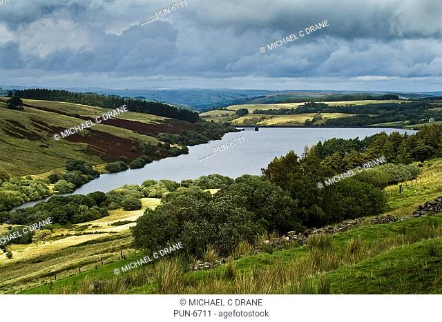 Cray Reservoir near the village of Crai in the Brecon Beacons