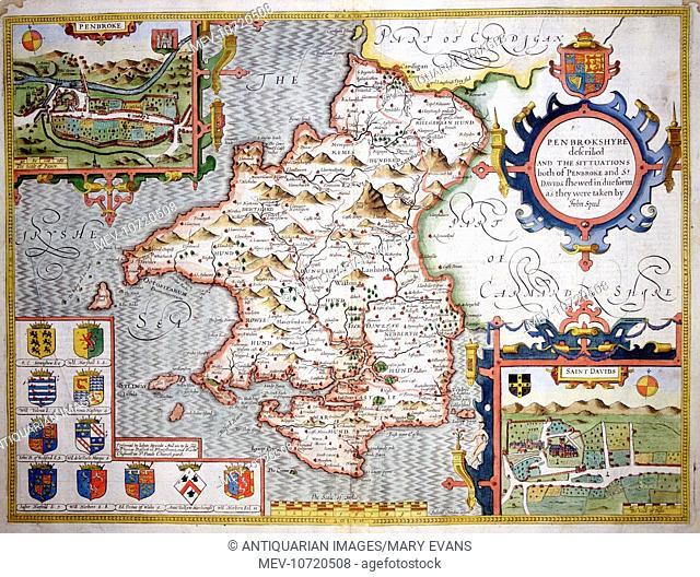 17th century Map of Pembroke, Wales