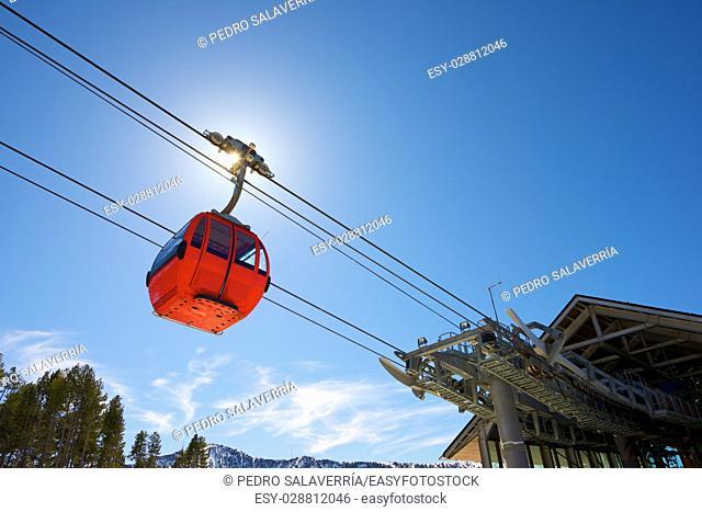 Cable car at a ski resort in Andorra