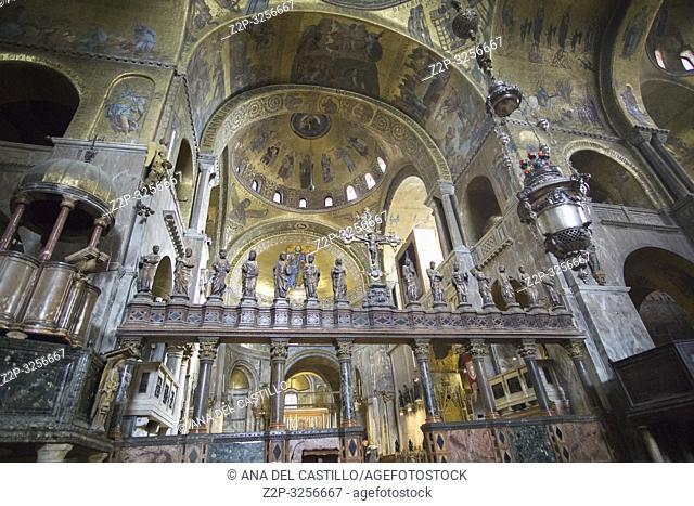 Venice, Veneto, Italy: St Marks church interior