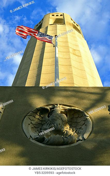 Details of the Coit Tower, San Francisco