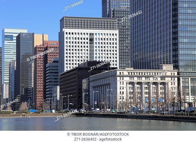 Japan, Tokyo, Marunouchi, skyline, central business district,