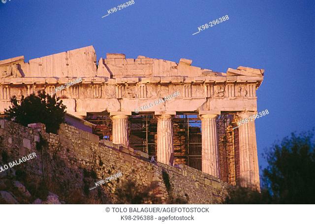 Parthenon in the Acropolis. Athens, Greece