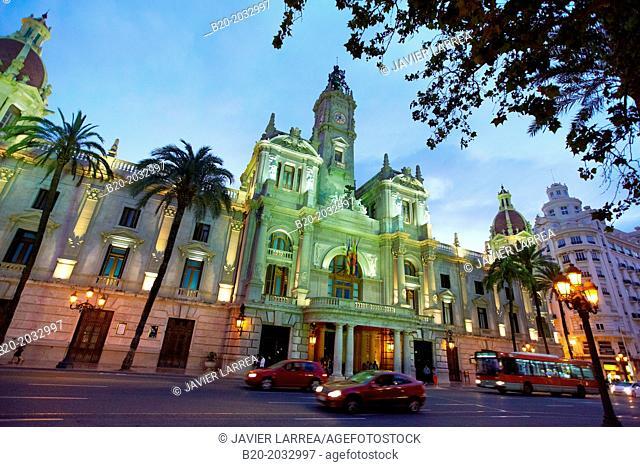 Ayuntamiento. City hall. Valencia. Comunidad Valenciana. Spain