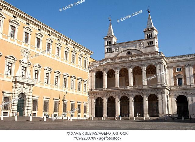 Lateran Palace and Basilica of S. Giovanni in Laterano, Rome, Lazio, Italy