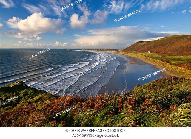 Rhossili Bay Gower Swansea Wales