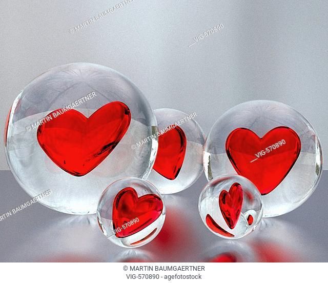 Computergrafic. Glas hearts. - 22/11/2007