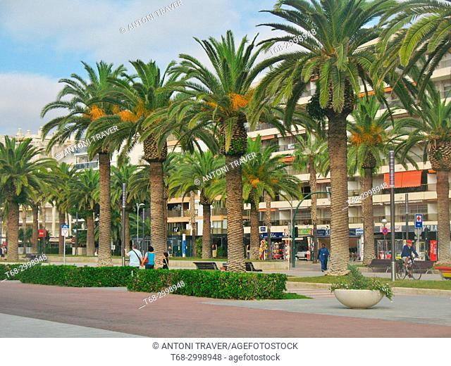 Boardwalk, Salou, Tarragona, Spain