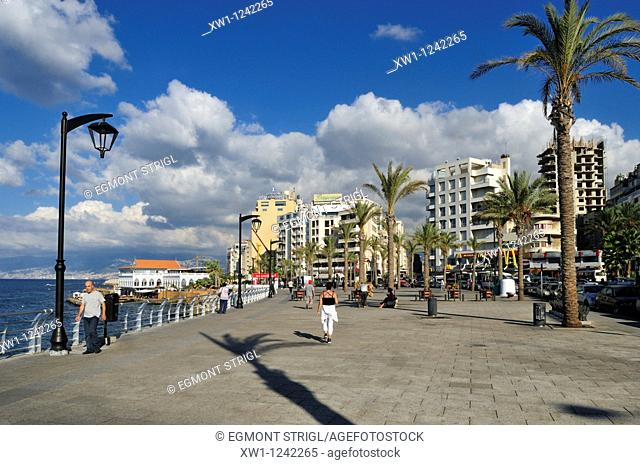 Corniche of Beirut, Beyrouth, Lebanon, Middle East, West Asia