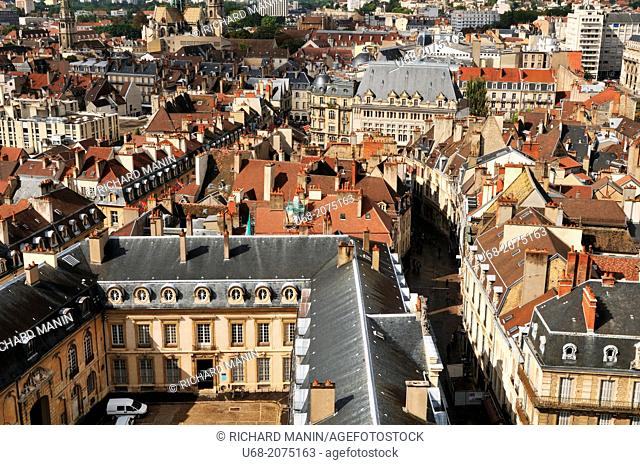 Partial view of the Palace of the Dukes of Burgundy, Dijon, Côte d'Or, Burgundy, France