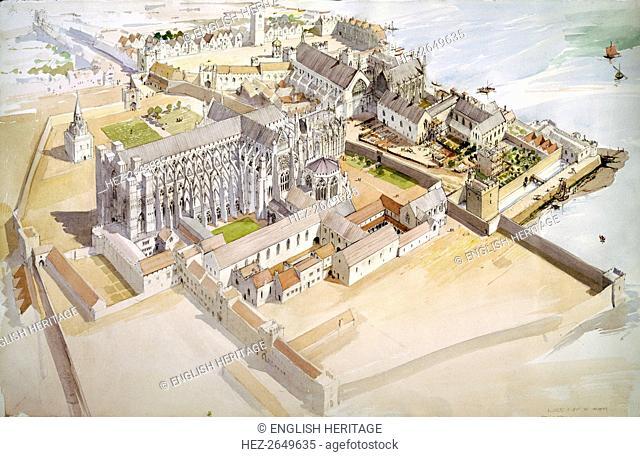 Jewel Tower, Westminster, c1510, (c1990-2010). Artists: Terry Ball, King Edward III