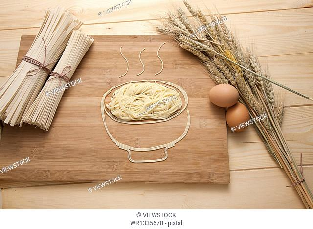 wheat,egg and noodles