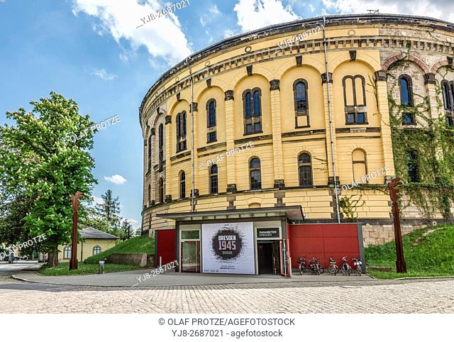 Exterior of the Panometer Exhibition Building of Dresden, Saxony, Germany