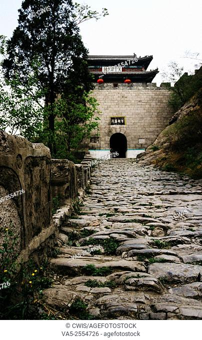 Shanxi Province, China. The view of Niangziguan, a important gate of Great Wall, in Shanxi province