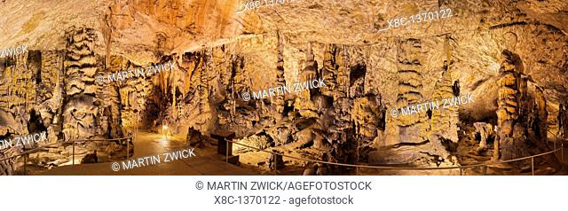 The Baradla Show Cave in the Aggtelek National Park, Hungary  During the first years as a show cave, visitors used torches for light source  The grime from the...