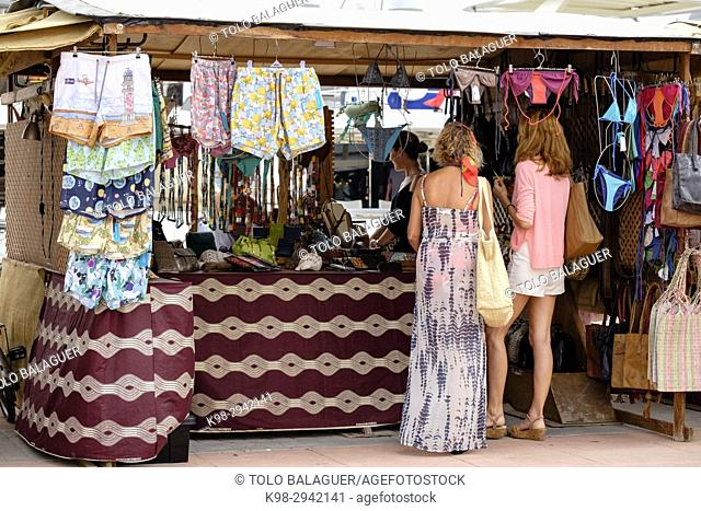 Flea market, Sa Savina, Formentera, Balearic Islands, Spain