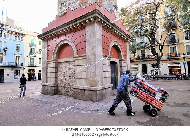 Vila de Gracia square, Gracia neigborhood, Barcelona, Catalonia, Spain