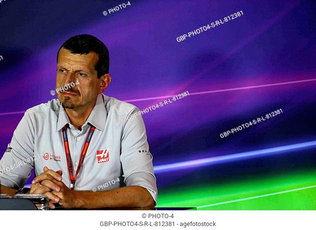 02.09.2016 - Press conference, Guenther Steiner (ITA) Haas F1 Team Prinicipal