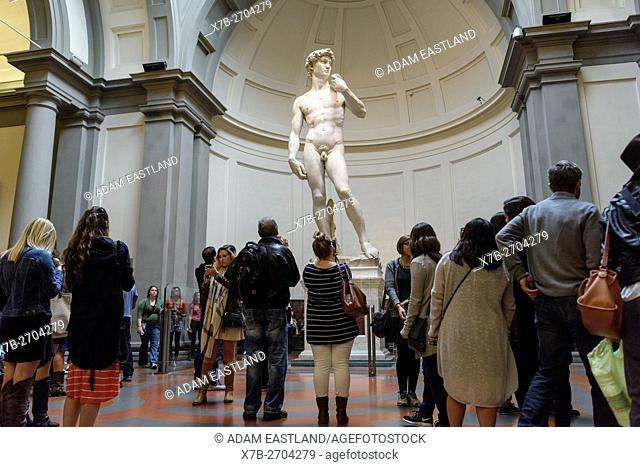 Florence. Italy. Michelangelo's statue of David (1501-1504), Galleria dell'Accademia