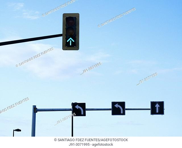 Traffic lights. City of Montreal. Quebec Province. Canada