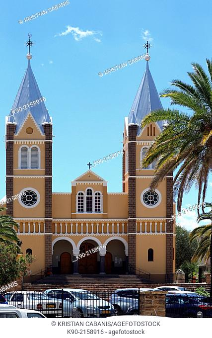 Catholic church St. Marien with two steeples, Windhoek, Namibia, Africa