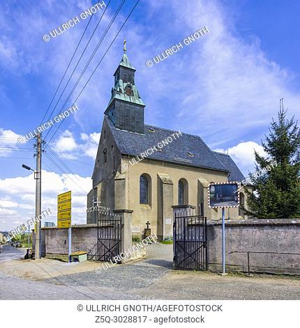 Church of the Sorbian village of Radibor near Bautzen, Saxony, Upper Lusatia, Germany