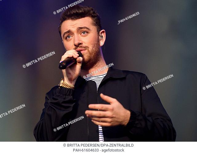 British singer Sam Smith performs on stage during the Lollapalooza Festival on the grounds of the former Tempelhof airport in Berlin, Germany, 13 September 2015