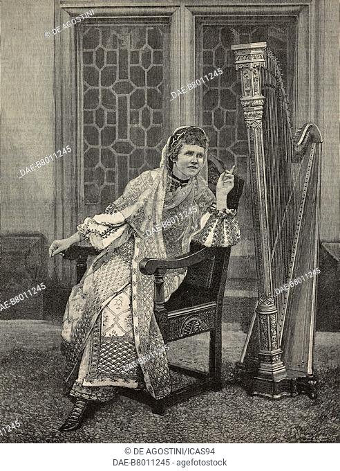Elizabeth, queen of Romania, known as Carmen Sylva (1843-1916), engraving from The Illustrated London News, No 2734, September 12, 1891