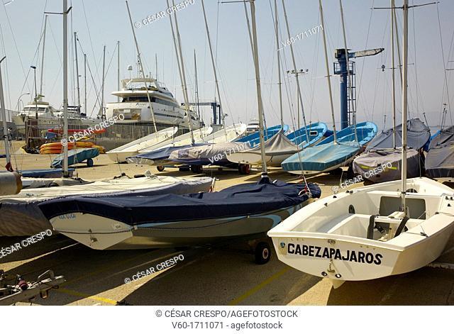 -Cabezapájaros- Harbor, Cambrils, Catalonia Spain