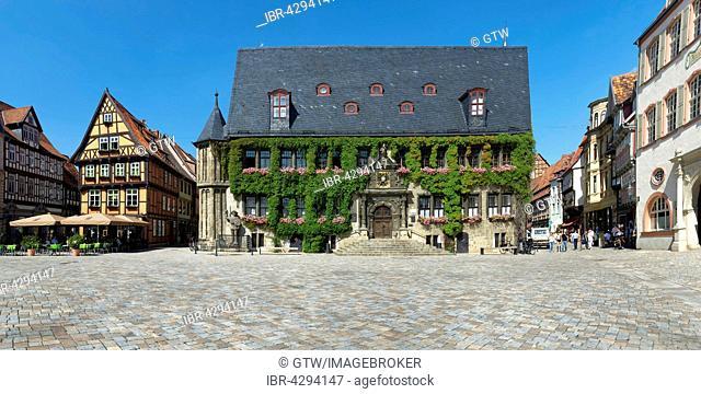 City Hall, UNESCO World Heritage Site, Quedlinburg, Harz, Saxony-Anhalt, Germany