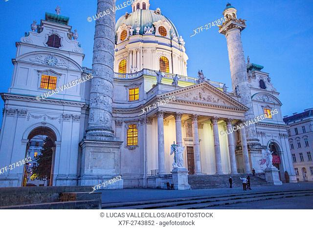 St. Charles Church or Karlskirche,Vienna, Austria, Europe
