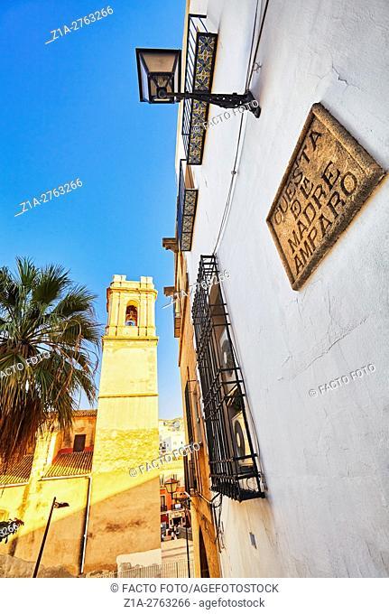 Denia town center. Alicante. Valencia community. Spain