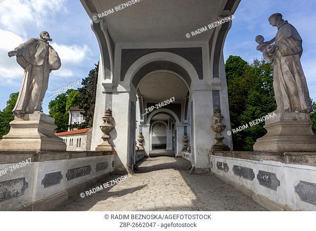Baroque decorations, Cesky Krumlov castle, Czech Republic