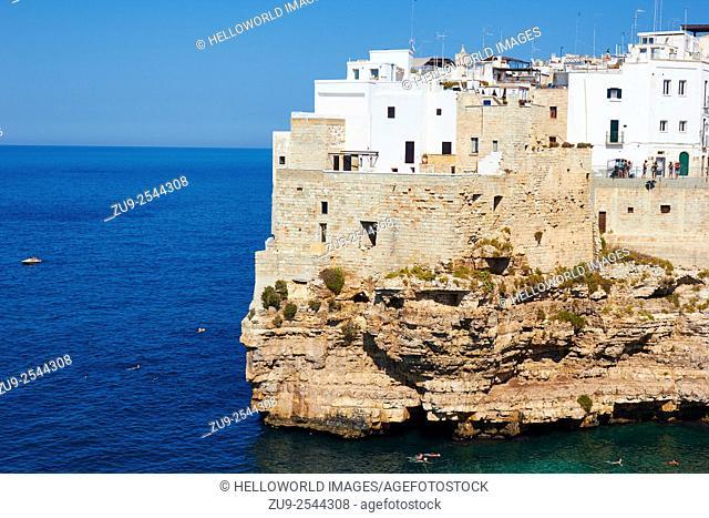 Clifftop town of Polignano, Puglia, Italy, Europe