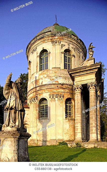 Pidhirtsi,Podhorce,castle church of St  Joseph and Ascention,1752-1766,architect S  Romanus,Lviv/Lvov Oblast,Western Ukraine