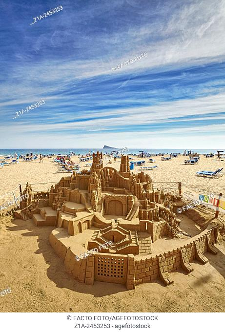 Sandcastle at the east beach. Benidorm. Alicante. Valencia Community. Spain