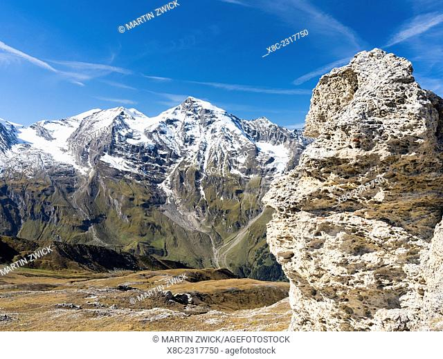 National Park Hohe Tauern, view towards Mount Grosses Wiesbachhorn (3564m).Europe, Central Europe, Austria, September