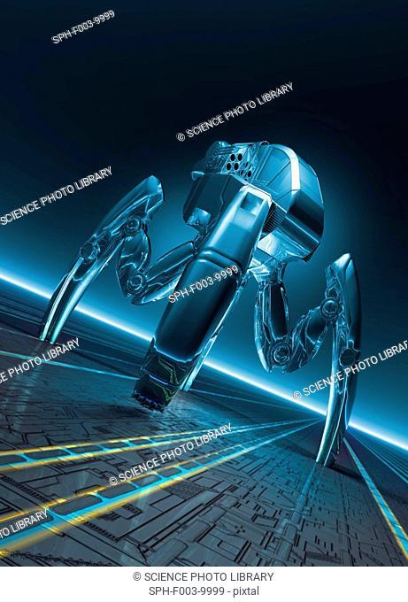 Nanorobot, conceptual artwork