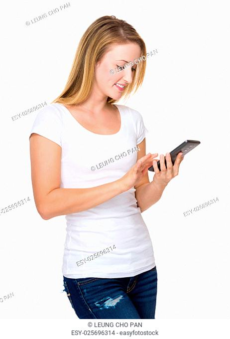 Young Woman use of the smartphone