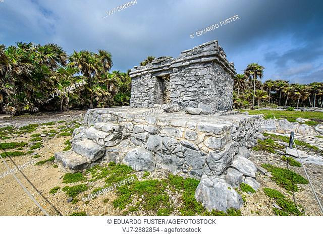 Structure in the mayan site of Tulum, Quintana Roo (Mexico)
