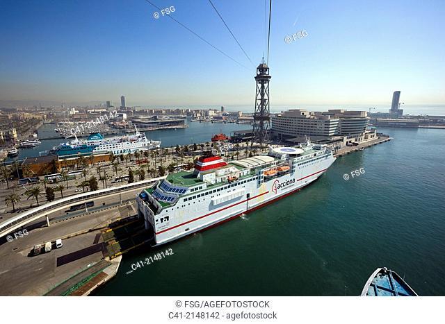 Barcelona seaport. Barelona, Spain