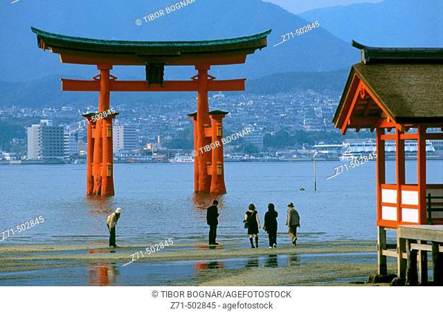 Floating Torii of Itsukushima Shrine, Miyajima. Japan
